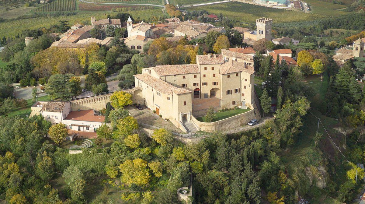 Rocca di Bertinoro, veduta dall'alto